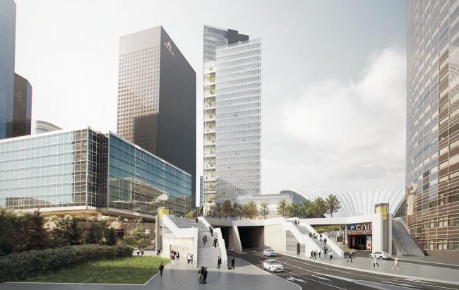 Le projet de la tour Trinity - Unibail-Rodamco / Cuno Brullmann Jean-Luc Crochon+Associés