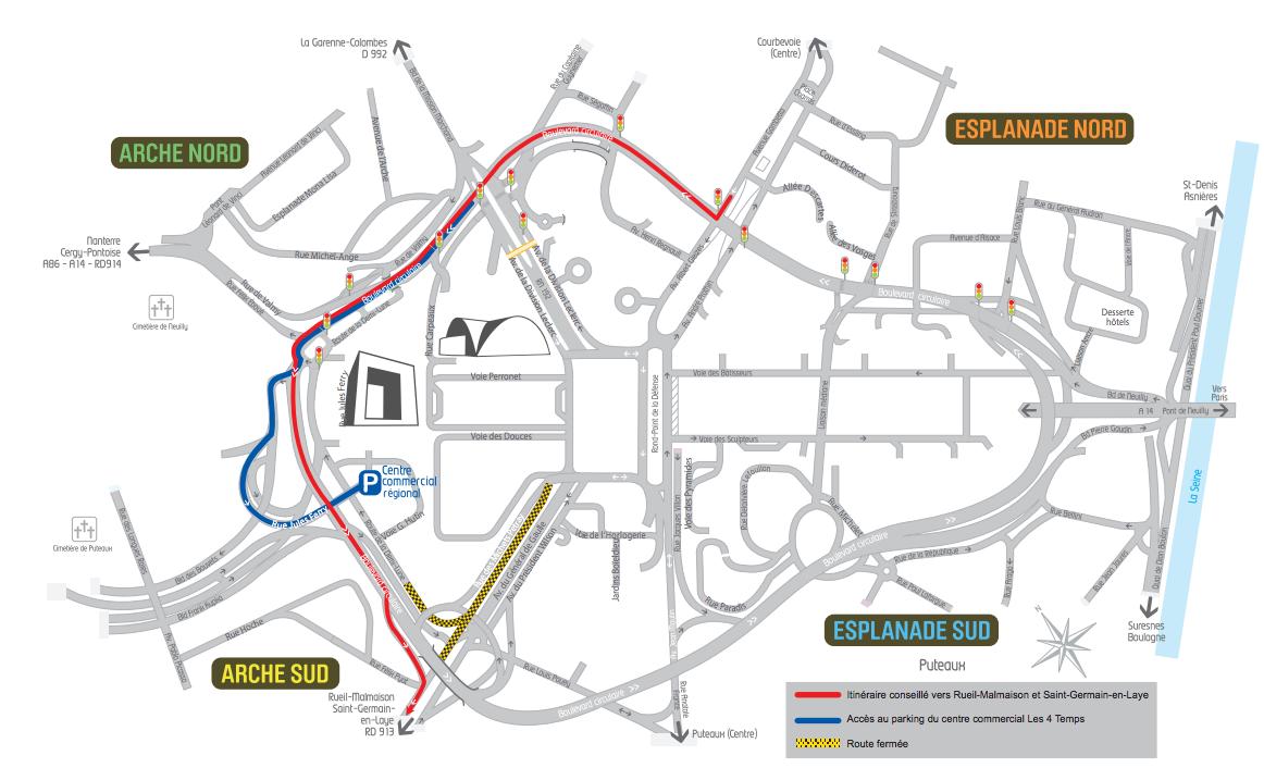 le plan de circulation de Defacto