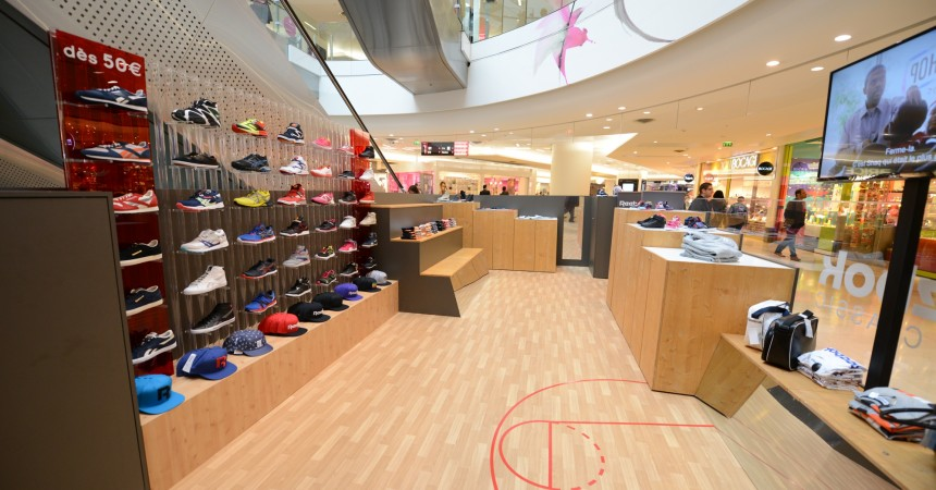 Reebok ouvre un pop-up store au sein des 4 Temps