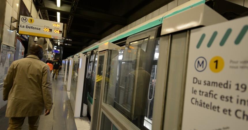 Ligne 1 du métro : Pas de circulation entre Châtelet et Charles de Gaulle-Etoile le weekend de pâques