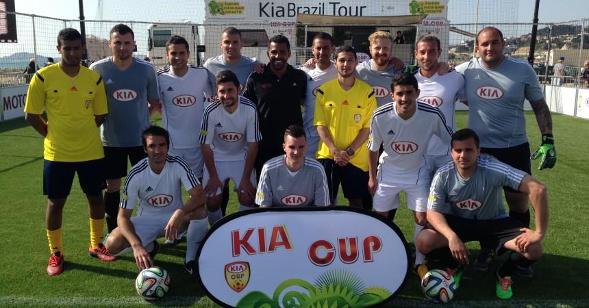 Le Kia Brazil Tour termine sa tournée par La Défense avec Sonny Anderson