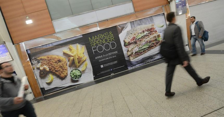 «Mark and Spencer Food» ouvrira début juin dans la gare de La Défense