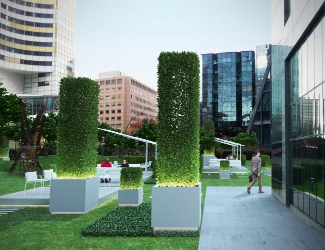 Le projet du jardin privatif de la tour Europlaza - DR