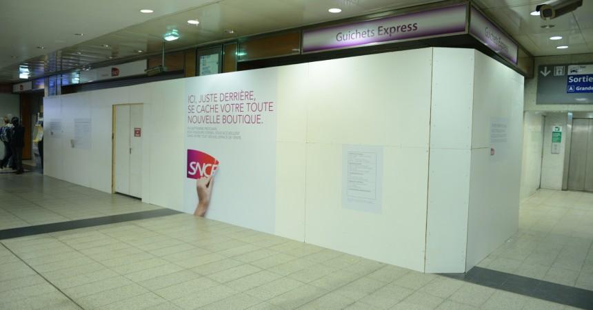 La boutique SNCF de la gare Coeur Transports ferme pour travaux