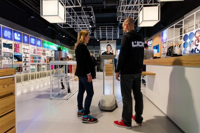Le robot du cyber vendeur de Lick - DR