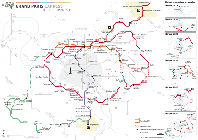 la carte du Grand Paris Express - DR