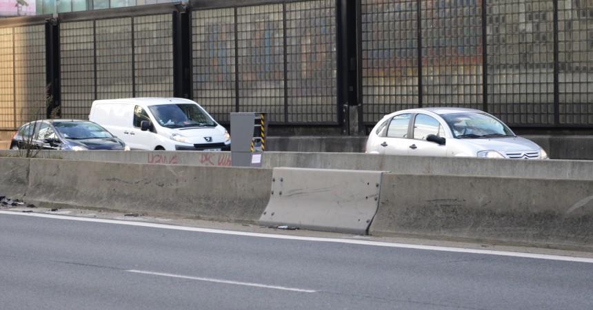 Un nouveau radar tout neuf à la sortie du tunnel de La Défense