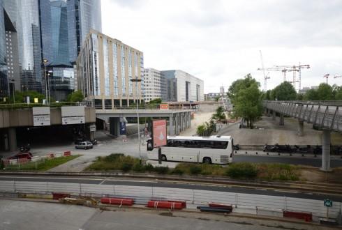 Les travaux préparatoires de la promenade de l'Arche le 26 mai 2015