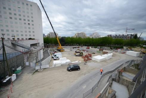 Le terrain de l'hôtel CitizenM le 18 mai 2015 - Defense-92.fr