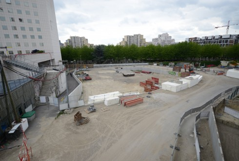 Le terrain de l'hôtel CitizenM le 26 mai 2015 - Defense-92.fr