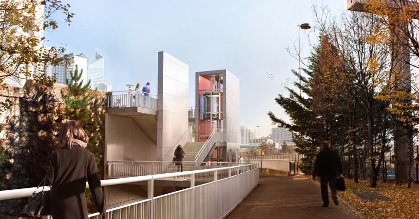Des ascenseurs pour relier le quartier Boieldieu à l'avenue Jean Moulin