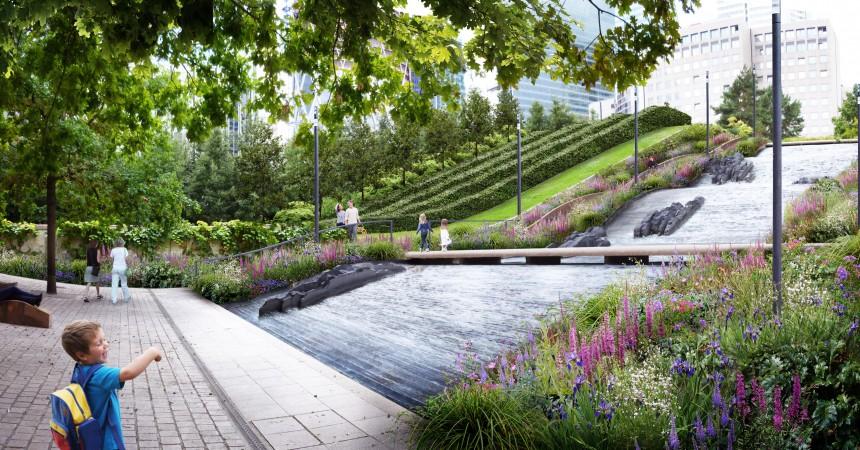 Le parc Diderot, poumon vert de La Défense réouvrira en mai