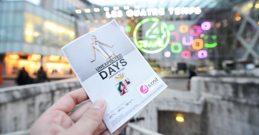 Unexpected Days : Cinq jours de promo aux 4 Temps et au Cnit