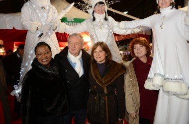 Véronique Genest, Babette de Rozières et Yann Queffélec en guest-stars pour inaugurer le marché de Noël