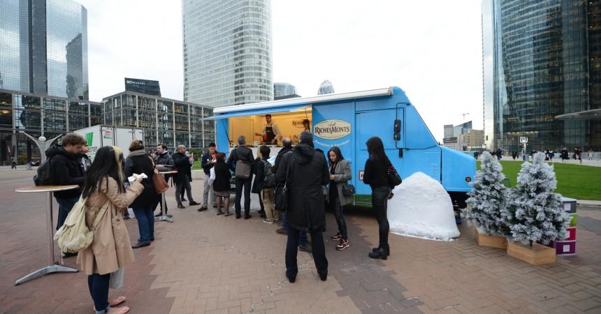 RichesMonts a fait déguster ses produits durant deux jours avec son food truck
