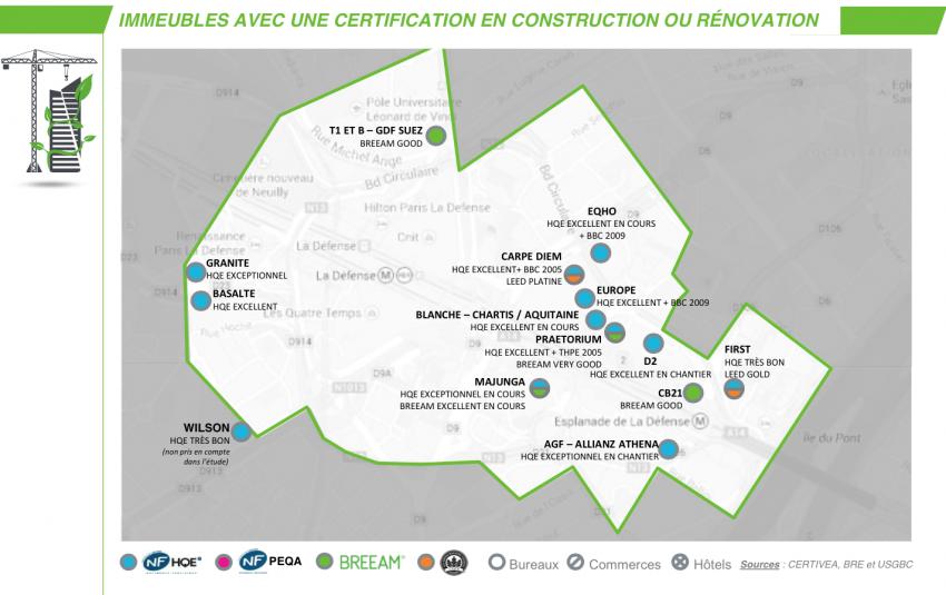 Immeubles avec une certification en construction ou rénovation - CBRE