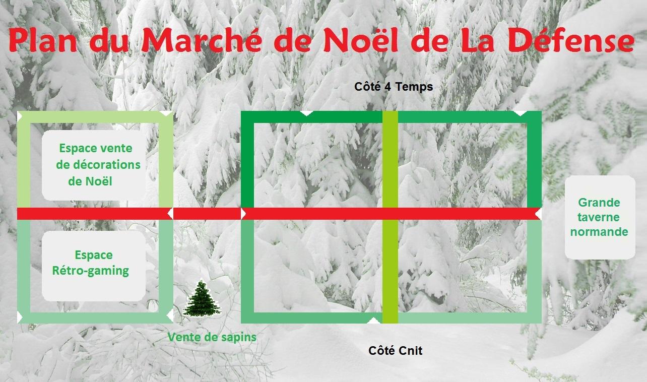 Plan du marché de Noël de La Défense 2014 - Defense-92.fr