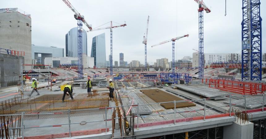 Le chantier de l'Arena 92 bat son plein