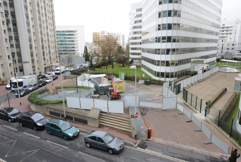 La rénovation de l'immeuble E+ le 8 décembre 2014 - Defense-92.fr