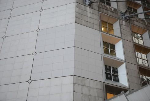 Le prototype de la nouvelle façade de la Grande Arche le 15 décembre 2014 - Defense-92.fr