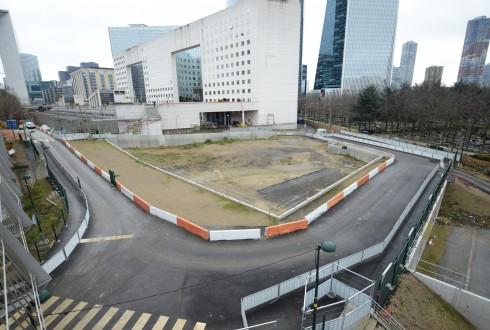 Le terrain de l'hôtel Valmy le 26 janvier 2015 - Defense-92.fr
