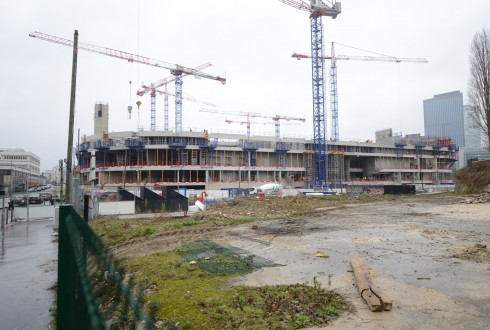 Le chantier de l'Arena 92 le 26 janvier 2015 - Defense-92.fr