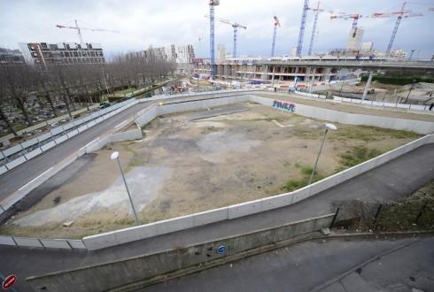 Le terrain de l'hôtel Valmy le 13 janvier 2015 - Defense-92.fr
