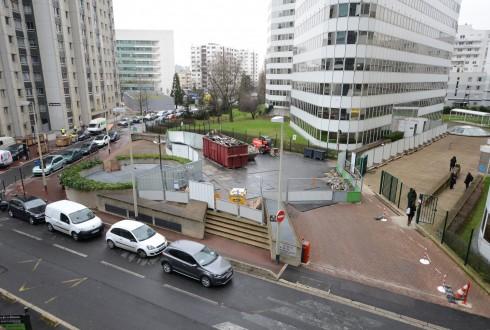 La rénovation de l'immeuble E+ le 19 janvier 2015 - Defense-92.fr