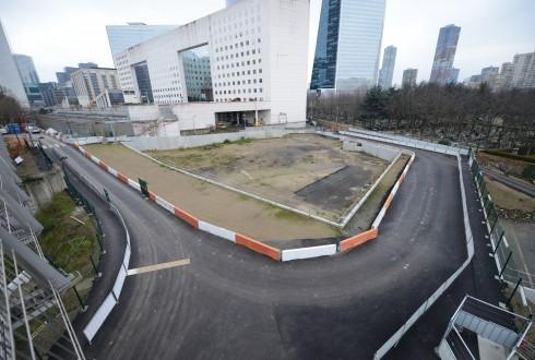 Le terrain de l'hôtel Valmy le 19 janvier 2015 - Defense-92.fr