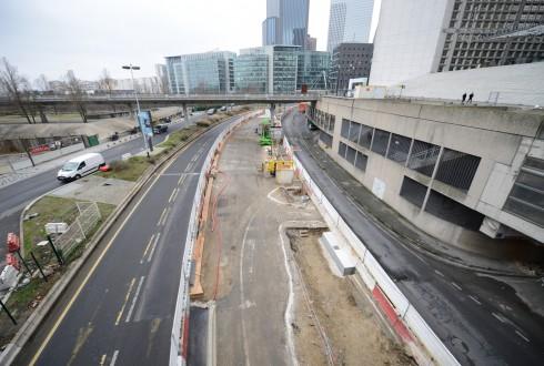 Les travaux préparatoires de la rénovation de la Grande Arche le 19 janvier 2015 - Defense-92.fr