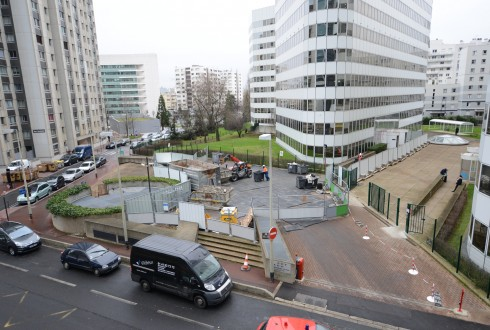 La rénovation de l'immeuble E+ le 26 janvier 2015 - Defense-92.fr