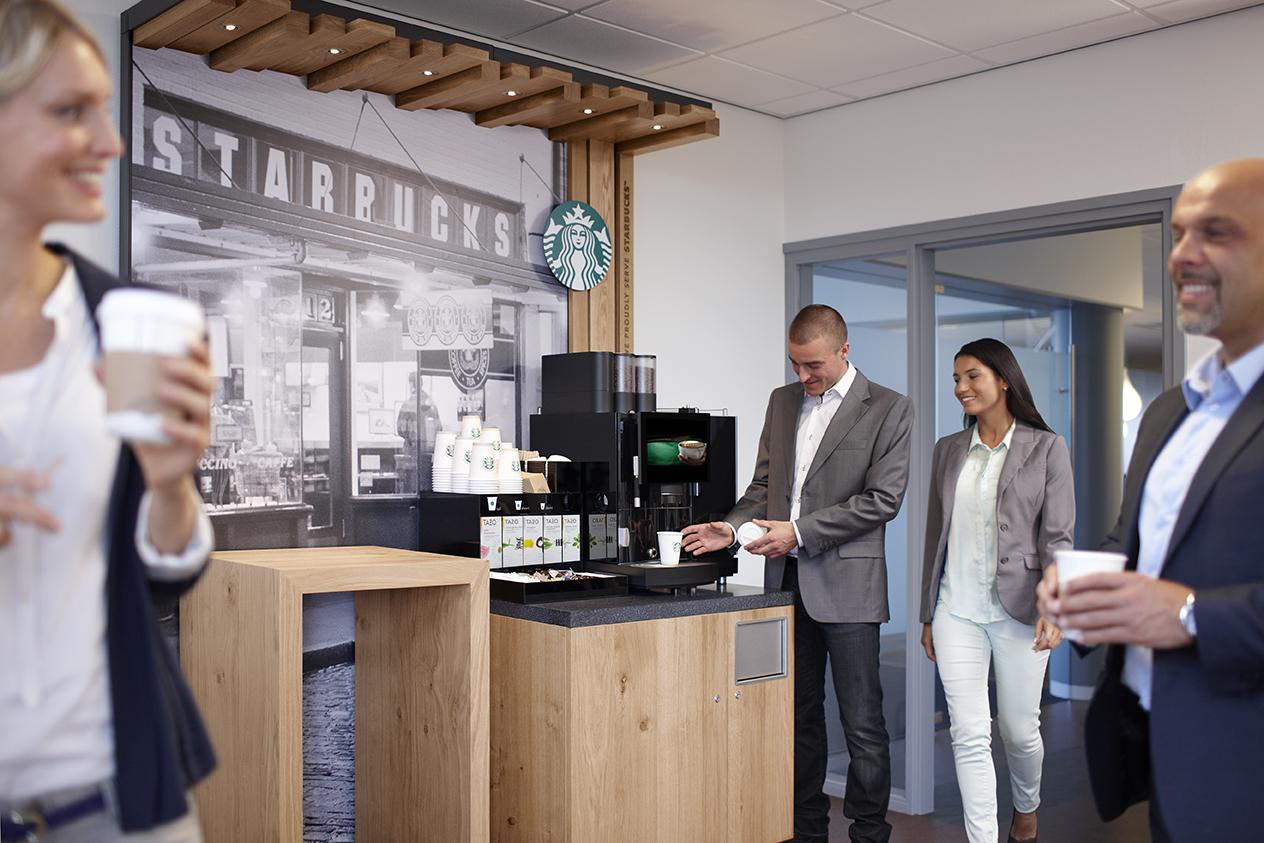 starbucks veut conqu rir les machines caf des bureaux. Black Bedroom Furniture Sets. Home Design Ideas