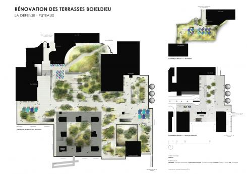 Le plan du réaménagement de la Terrasse Boieldieu - DR