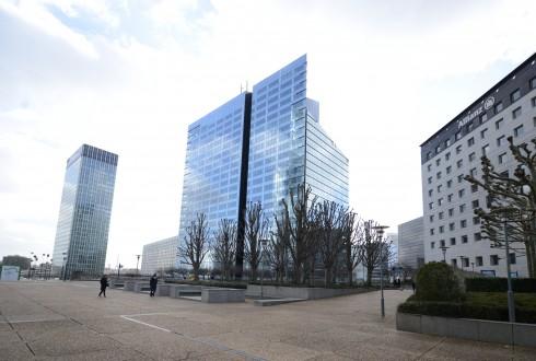 Les travaux de la tour Athena le 23 février 2015 - Defense-92.fr