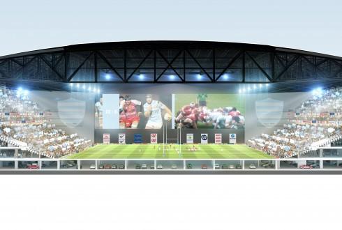 Le stade en configuration rugby - DR