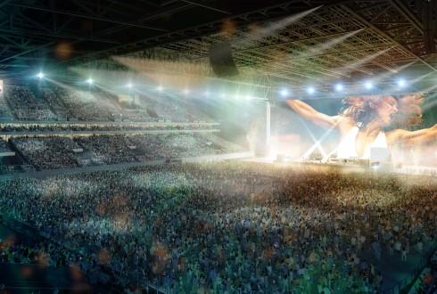 Le stade en configuration concert - DR
