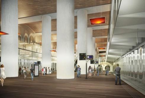 La future gare de La Défense du RER E - DR