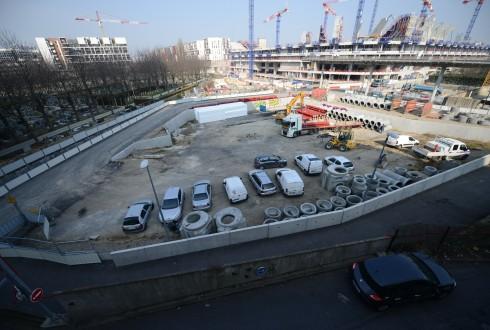 Le terrain de l'hôtel Valmy le 16 mars 2015 - Defense-92.fr