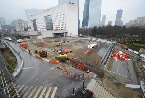 Le terrain de l'hôtel CitizenM le 24 mars 2015 - Defense-92.fr