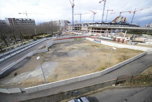 Le terrain de l'hôtel Valmy le 3 mars 2015 - Defense-92.fr