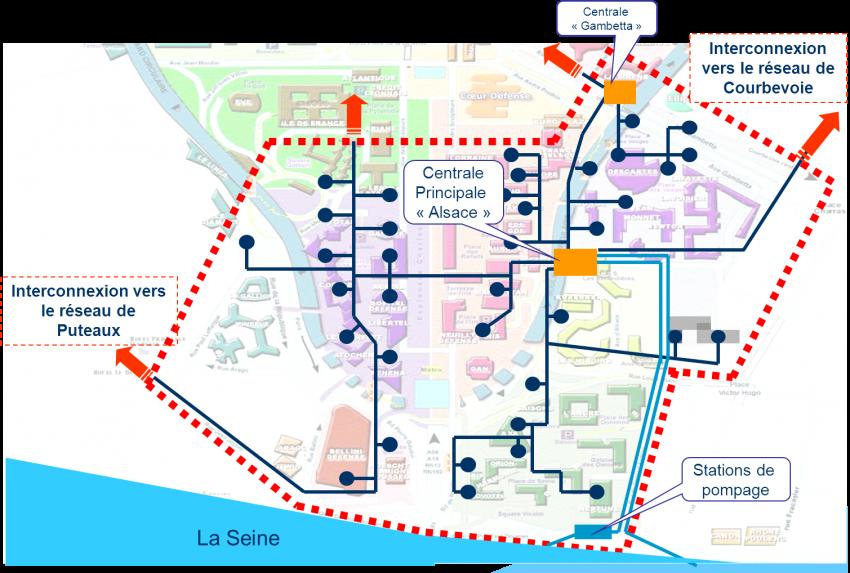 Le réseau SUC de La Défense - DR