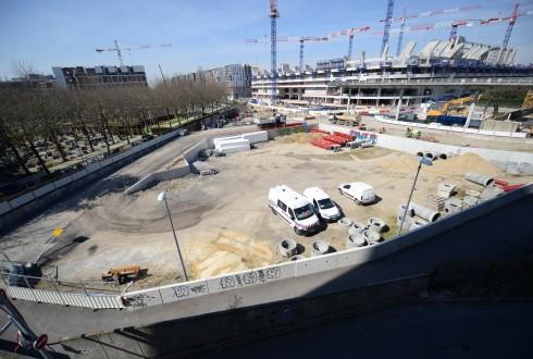 Le terrain de l'hôtel CitizenM le 7 avril 2015 - Defense-92.fr