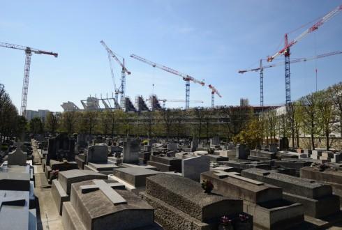 Le chantier de l'Arena 92 le 7 avril 2015 - Defense-92.fr