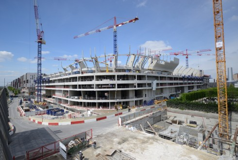 Le chantier de l'Arena 92 le 27 avril 2015 - Defense-92.fr