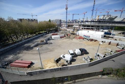 Le terrain de l'hôtel CitizenM le 20 avril 2015 - Defense-92.fr