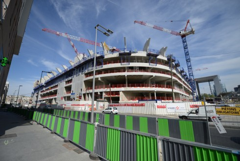 Le chantier de l'Arena 92 le 20 avril 2015 - Defense-92.fr