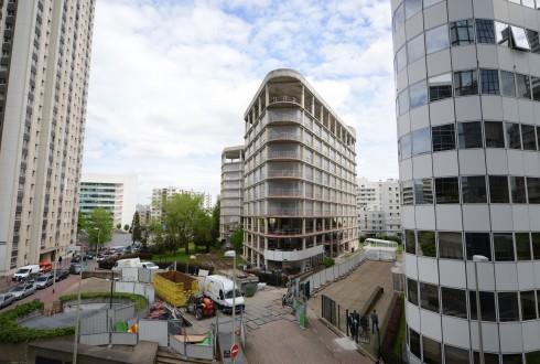 La rénovation de l'immeuble E+ le 4 mai 2015 - Defense-92.fr