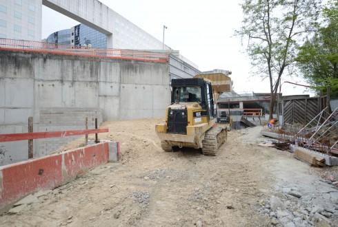 Le chantier Sky Light le 4 mai 2015 - Defense-92.fr