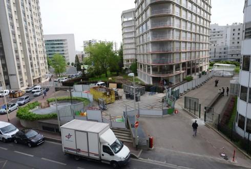 La rénovation de l'immeuble E+ le 11 mai 2015 - Defense-92.fr