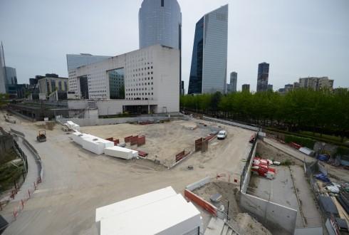 Le terrain de l'hôtel CitizenM le 11 mai 2015 - Defense-92.fr